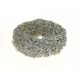 Iron bush krans full, 38cm, white wash, per 6 stuks