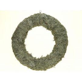 Krans van grijs mos 40 cm naturel