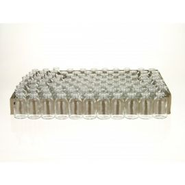 Mini glazen flesjes 6cm hoog, per 20 stuks