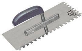 Plakspaan met tanden inox 280*130mm T8x8