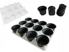 Potjestray wit voor 12 keer 8cm potjes per 2 stuks