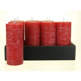 Stompkaars borke groot, per 8 stuks, granaatappel rood