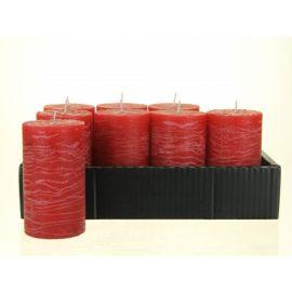 Stompkaars borke, per 8 stuks, granaatappel rood