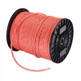 touw 8 mm oranje poly klos 220 mtr